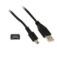 3ft Mini USB 2.0 Cable Black Type A Male to 5 Pin Mini-B Male 3foot 10UM-02103BK