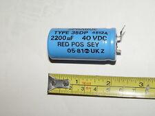 Vintage Sprague 2200uF 40V Electrolytic Capacitor