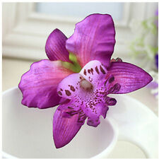 Fashion Bridal Wedding Orchid Flower Hair Clip Barrette Women Girls DHC