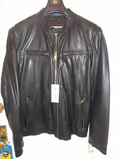 $499.00  NEW Marc New York , Andrew Marc  Lightweight Black Leather Moto Jacket