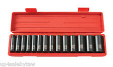 14pc 1/2 in. Drive Deep Impact Socket Set (11-32mm) 6 pt. Cr-V TEKTON 4885