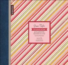 "SALE Diagonal Stripe Large 12"" Scrapbook Memory Book Photo Album 12x12"