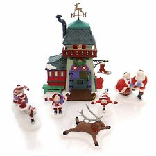 NEW Dept 56 North Pole PEPPERMINT Ice SKATING PARTY Christmas Snow Village Santa