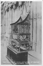 BR80593 the coronation chair and stone  westminster abbey real photo london  uk