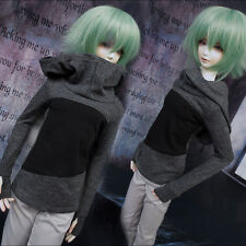 """New 1/4 7-8"""" BJD SD MSD UNCLE Doll GRAY BLACK Long Sleeve Shirt/Outfit/Clothes"""