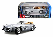BBURAGO 1:18 1957 MERCEDES-BENZ 300 SL TOURING Diecast Model Car Silver