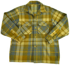 Vtg Woolrich Hunting Jacket S 42 Wool Plaid Flannel 90s USA Mens Shirt Buttons