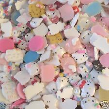"US SELLER- 30 pc x 3/4"" Mixed Resin Flatback Embellishments for Hello Kitty AB01"