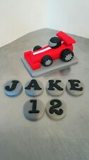 Handmade comestible fondant course/voiture de course-birthday cake topper decoration