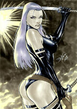PSYLOCKE FULL COLOR COMMISSION BY ED BENES! SUPER SEXY AND READY FOR YOUR WALL!