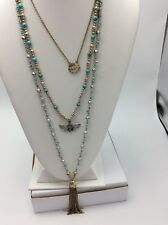 $49 Lucky Brand Turquoise Natives Butterfly Turquoise Charm Necklaces