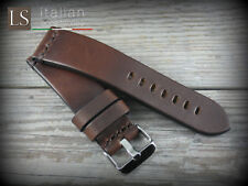 Cinturino in Pelle Bufalo Vintage ILLINOIS 24 mm Watch Strap Band Marrone