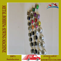 30 X METAL BOBBINs SEWING MACHINE STANDARD SPOOLS ASSORTED COLORS.
