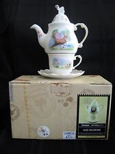 DISNEY PARKS ALICE IN WONDERLAND TEA FOR ONE TEAPOT CUP SAUCER