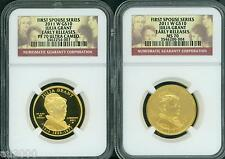 2011-W $10 Gold Spouse Julia Grant Ngc Pr70 Pf70 & Ms70 2-Coin Set Early Release