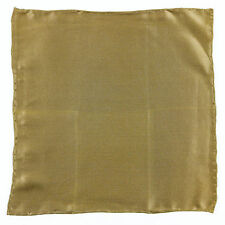 New ITALO FERRETTI Handmade Brown Solid Silk Pocket Square Handkerchief $150