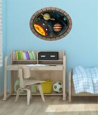 """24"""" Porthole Space Window SOLAR SYSTEM #2 OVAL Wall Decal Graphic Art Sticker"""
