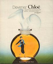 Publicité Advertising  1978  Parfum Chloé de Karl Lagerfeld