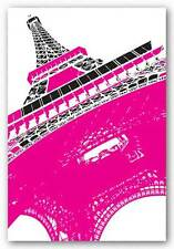 TRAVEL POSTER Eiffel Tower Pink