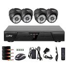 H.264 4CH CCTV DVR Security Surveillance Indoor IR Night Vision Camera System US