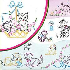 Vintage Embroidery Transfer repo 240 Kittens Puppies Tiny Poodles for Cases