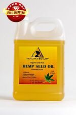 HEMP SEED OIL REFINED ORGANIC CARRIER COLD PRESSED RAW 100% PURE 7 LB