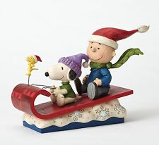 Peanuts Snow Day (Snoopy Charlie Brown & Woodstock) Figure NEW  27405