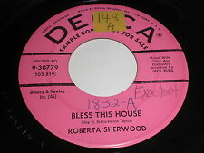 Roberta Sherwood: Bless This House / If I Can Help Somebody 45 - Gospel