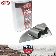 SAAS BA BF Ford Falcon Dual 52mm Gauge Holder Pod Grey Clip In Design XR6 XR8