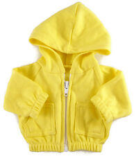 Yellow Hoodie Jacket for Bitty Baby + Twins Doll Clothes DETAILED!