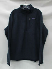 Patagonia Mens Better Sweater 1/4 Zip Pullover 25522 Classic Navy Size Medium
