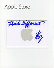 Steve Woz Wozniak SIGNED $20 Apple Store Gift Card + Think Different AUTOGRAPHED