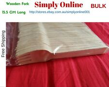 ** BULK **100  FORKS DISPOSABLE PARTY WOODEN CUTLERY PACK WOODEN ECO PICNIC