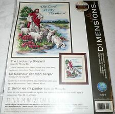"""Dimensions Stamped Cross Stitch Kit THE LORD IS MY SHEPERD 11"""" x 14"""""""