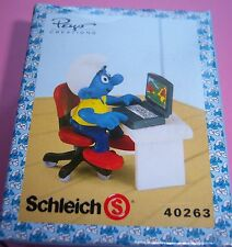 40263 Schtroumpf sur ordinateur smurf pitufo puffo puffi schtroumpfette box T.R