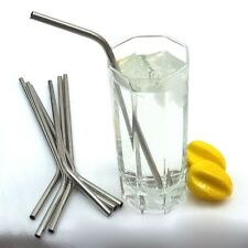 Set of 4 Stainless Steel Drinking Straw and 1 Cleaner Brush