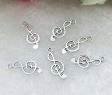 Free Shipping Tibetan Silver musical note20 pcs beads Charms Pendant 9x24mm