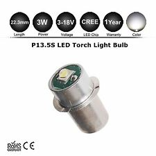 1X CREE 3W P13.5S LED Flashlight Replacement Bulb Lantern Work Light 3-12V 6 DC