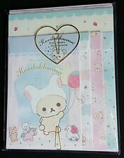 San-x Rilakkuma Korilakkuma Jumbo Kawaii Letter Set Stationery Japan