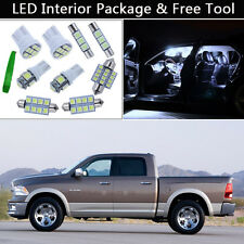 5PCS White LED Interior Lights Package kit Fit 2009-2012 Dodge RAM 1500 3500 J1
