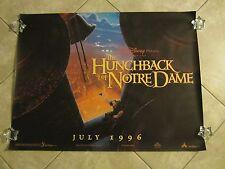 Disney's Hunchback Of Notre Dame movie poster - original uk quad poster (1996)