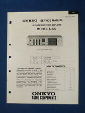 ONKYO A-44 INTEGRATED AMP SERVICE MANUAL ORIGINAL FACTORY ISSUE GOOD CONDITION