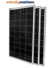 (3 pcs) 100W Watts 100 Watt  Solar Panel Off Grid 12 Volt 12V RV Boat Off Grid