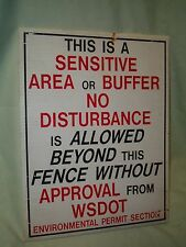 """Sensitive Area or Buffer"" ""No Disturbance"" Sign   Perfect for a Teenager's Room"