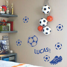 Personalized Foot Ball Name Children Art Wall Stickers Quote/ Wall Decals p2