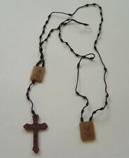 Knotted rosary scapular