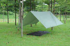 3m Tarpaulin Tent Camping Backpacking Rainfly with Stuff Sack Hook Ring Rope