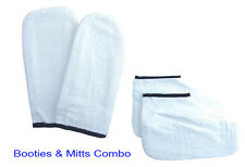 DL Professional DL-C130 & C129 Terry Cloth Booties and Mitts for Waxing