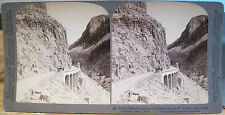 Vintage Stereoview YELLOWSTONE NATL PARK Mammoth GOLDEN GATE Underwood U&U 1904