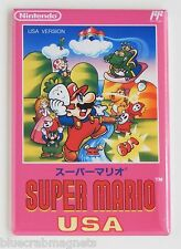 Super Mario Bros USA FRIDGE MAGNET (2.5 x 3.5 inches) video game box famicom nes